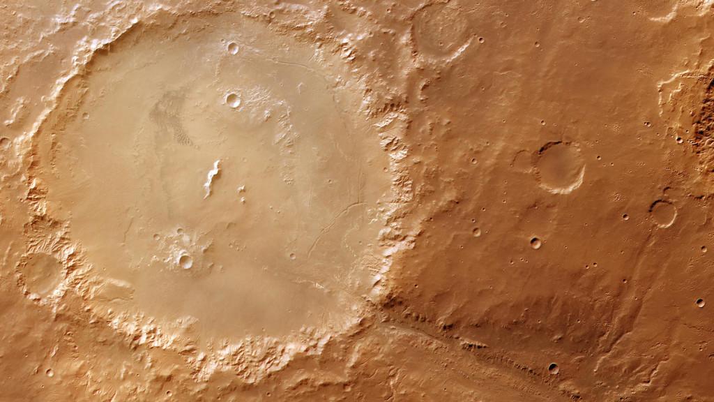 Martian impact crater